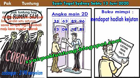 Prediksi Sydney Sabtu 13 Juni 2020 - Pak Tuntung