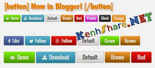 Tạo nút buttons đẹp cho blogger bằng css3