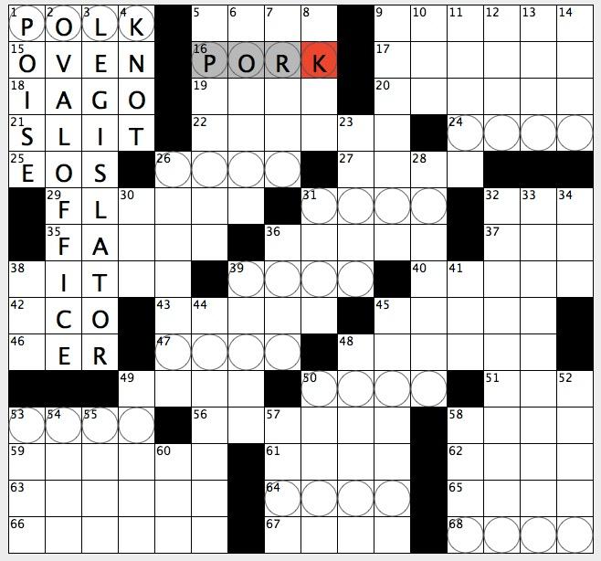Rex Parker Does The NYT Crossword Puzzle Roman Road MON