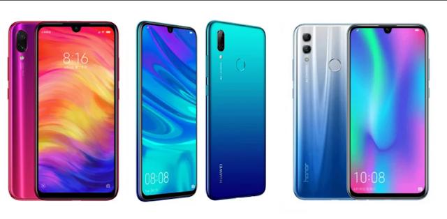 Specs Comparison Samsung Galaxy M20 vs Xiaomi Redmi Note 7 vs Honor 10 Lite