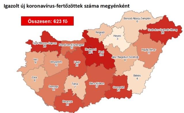 Heves megyében van a legkevesebb koronavírus-fertőzött