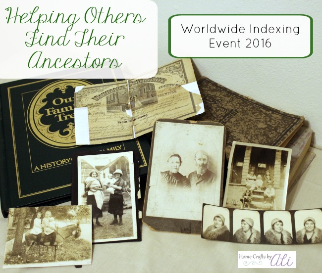 Worldwide Indexing Event 2016 FamilySearch Genealogy Family History ancestors