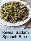 Keerai Sadam,Spinach Rice