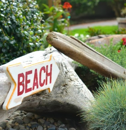 beach garden sign