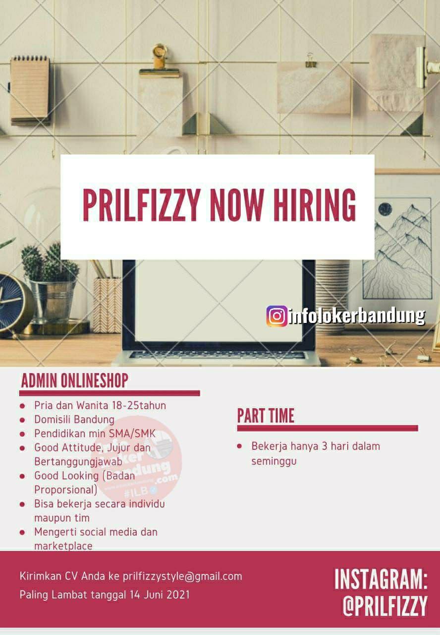 Lowongan Kerja Prilfizzy Onlineshop Bandung Juni 2021
