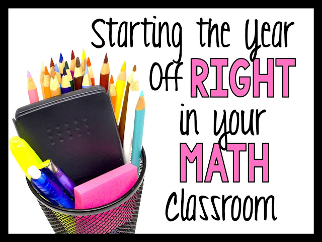 Starting the year off right in your math classroom image of cup with pencils and calculator