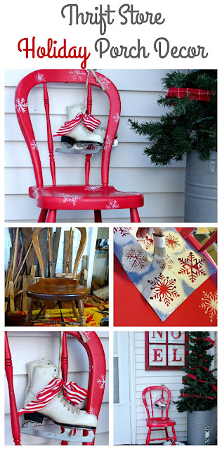 decorate for Christmas with upcycled thrift store items
