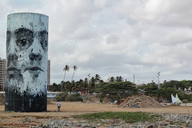 Street Art By Borondo For The Festival Concreto On The Beach Of Fortaleza, Brazil. 2