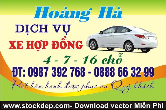 Vector Mẫu danh thiếp xe du lịch