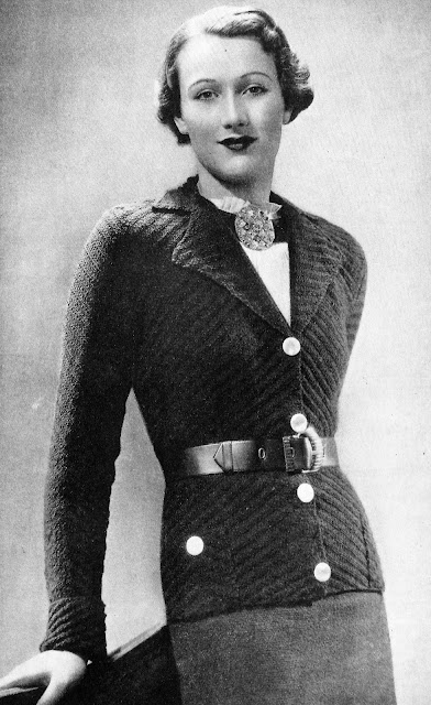 "The Vintage Pattern Files: Free 1930s Knitting Pattern - ""Special"" for a Larger-size Ladies"