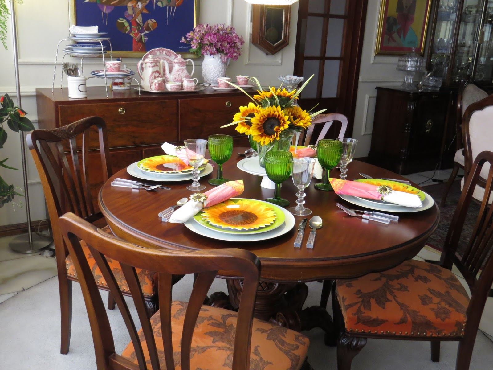 Fabby 39 s living sunflowers for a father 39 s day summer table Simple table setting for lunch