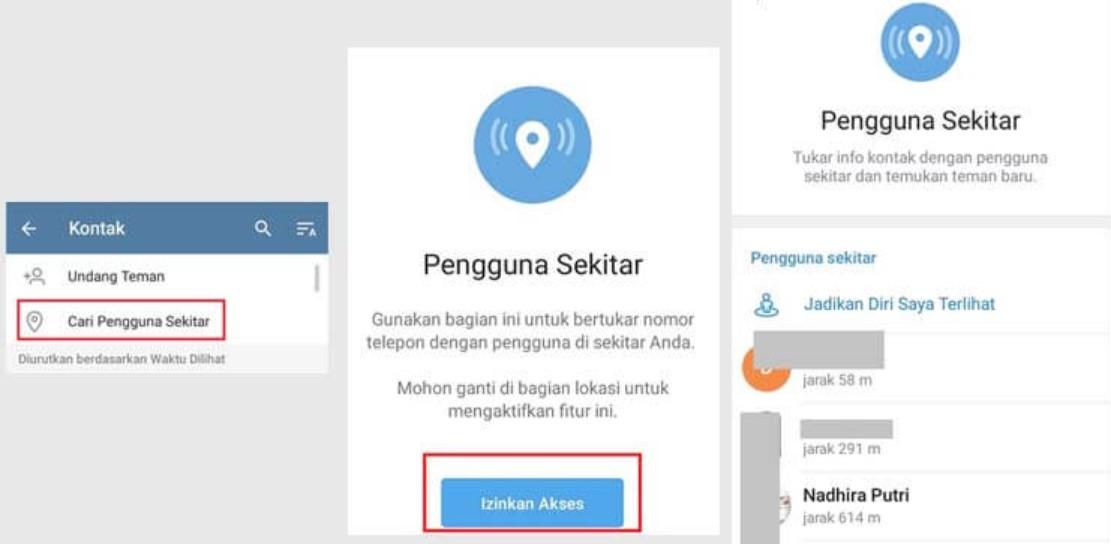Cara Melihat Jarak di Telegram