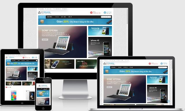 Template blogspot bán điện thoại máy ảnh chuẩn W3C đẹp 2019