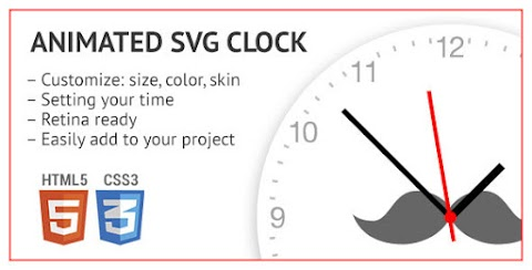 Animated SVG Clock