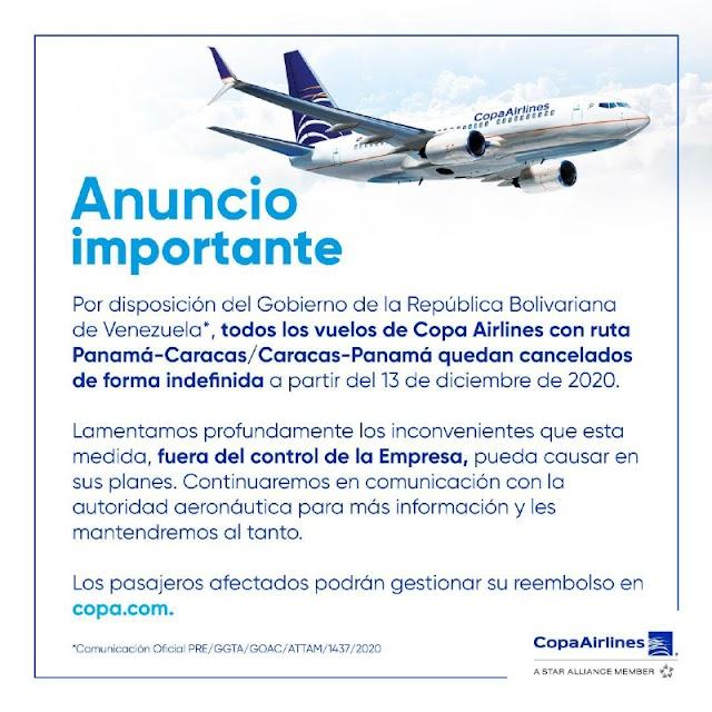 Régimen canceló todos los vuelos de Opa Airlines desde y hacia Panamá