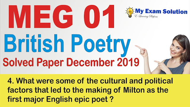milton idea, milton, ignou meg, ignou previous year question paper,