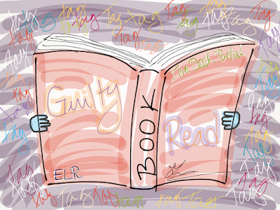 read, guilty, tag, the guilty reader book tag, book, The Book Portal, elena of the universe, drawing, sketch, art, own art, picture, image, bamboo paper, app