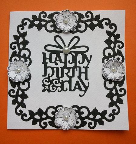 Black Anda White Handmade Card