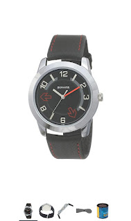 Sonata Yuva black men's watches