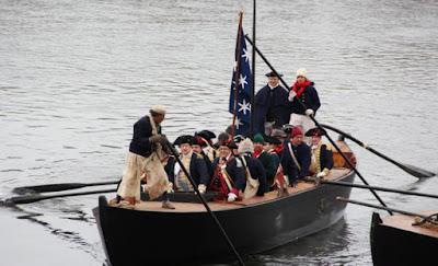 Re-enactment of Washington crossing.