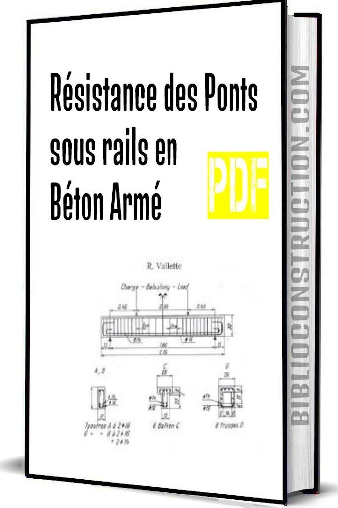 Résistance des ponts sous rails en béton armé pdf