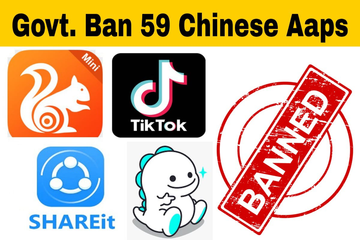 Govt bans 59 Chinese apps | Ban TikTok, UC Browser, Shein, Helo, Likee, WeChat, Shareit and more