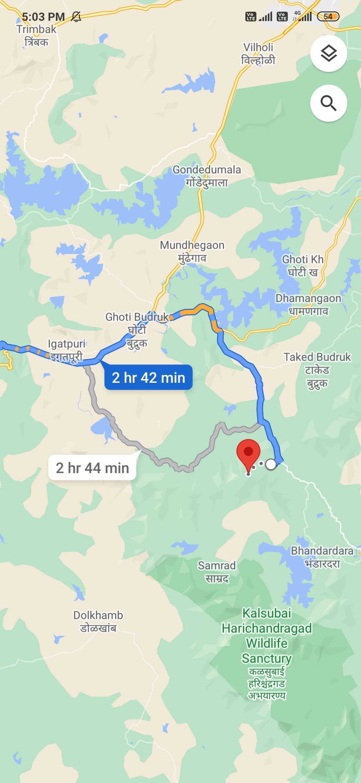 Map-Kalsubai-maharashtra-highest-peak-trekking-diaries