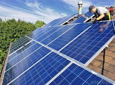 Cara memasang panel surya, pemasangan panel surya