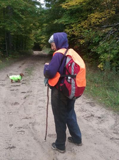 wet hiker