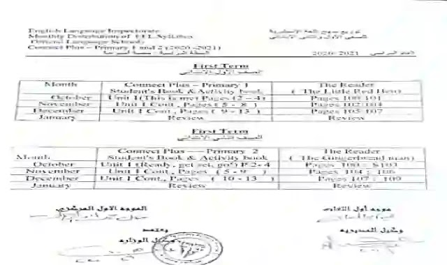 توزيع منهج اللغة الانجليزية كونكت 1-2-3 للصف الاول والثانى والثالث الابتدائى الترم الاول 2021
