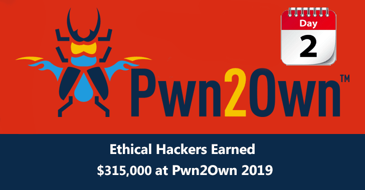 PWN2OWN  - Pwn2Own 2B2019 2BDay 2B2 - PWN2OWN Tokio 2019 – Ethical Hackers Earned $315,000