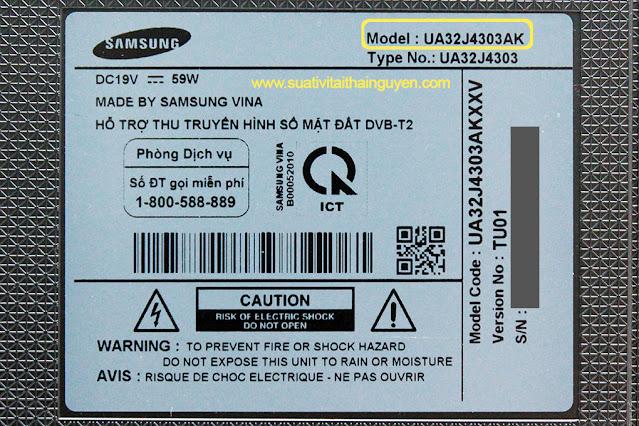 kiểm tra xem model của tivi Samsung là gì