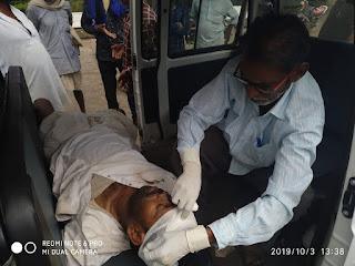 समाज सेवी संगठन ने घायल को पहुंचाया प्राथमिक स्वास्थ्य केंद्र, करवाया प्राथमिक उपचार