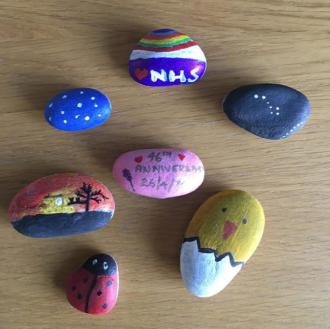 Lockdown fun - Painting Rocks