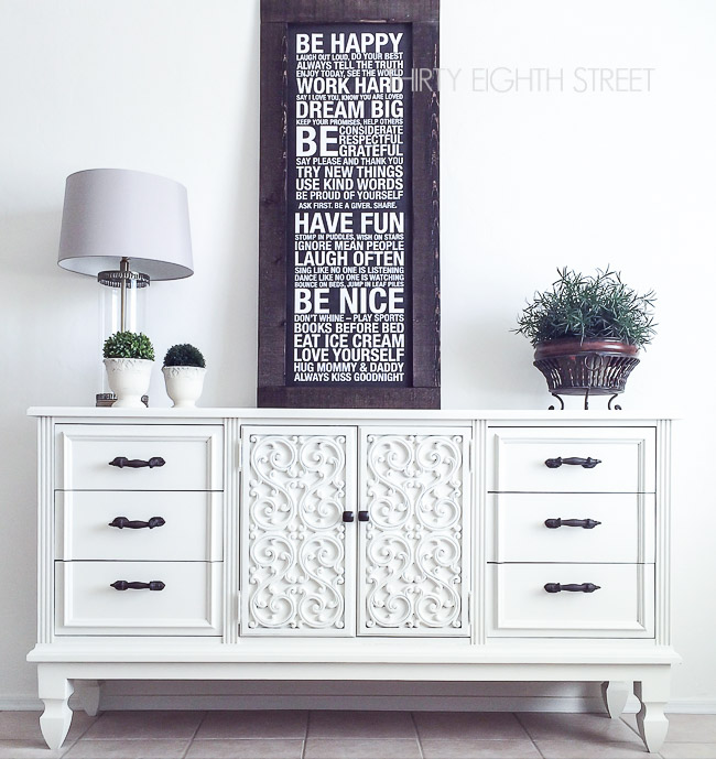 adding height to furniture, diy painted furniture, repurposed furniture, white painted furniture
