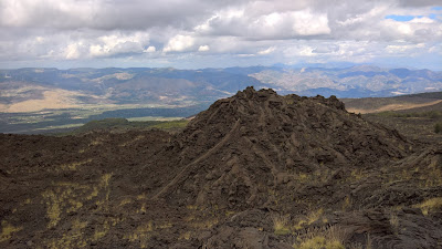 Views north from the north side of Mount Etna.