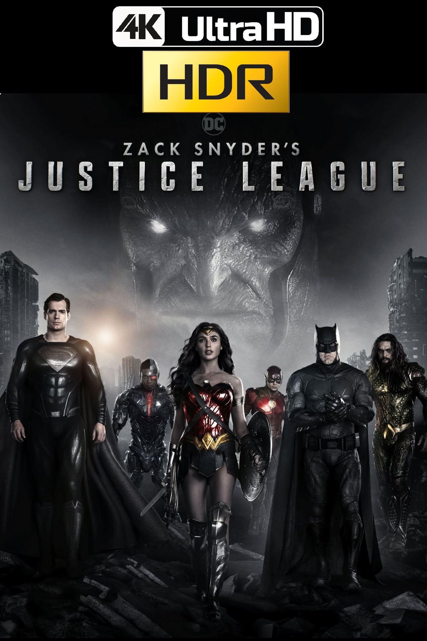 La Liga de la Justicia de Zack Snyder (2021) 4K UHD HDR WEB Latino