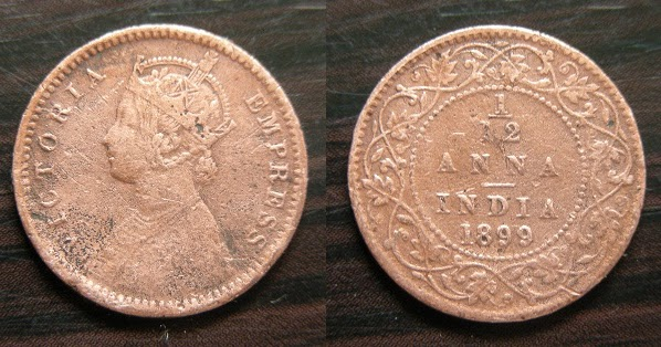 My Coins Collection India British Rule 1 12 Anna