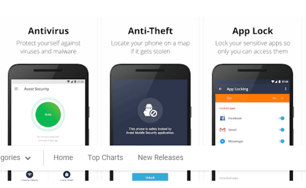 Avast Antivirus for Android 2018.