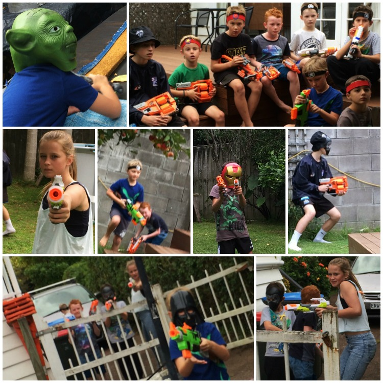 Nerf Battle - capture the flag (so much fun the big kids wanted to play too)
