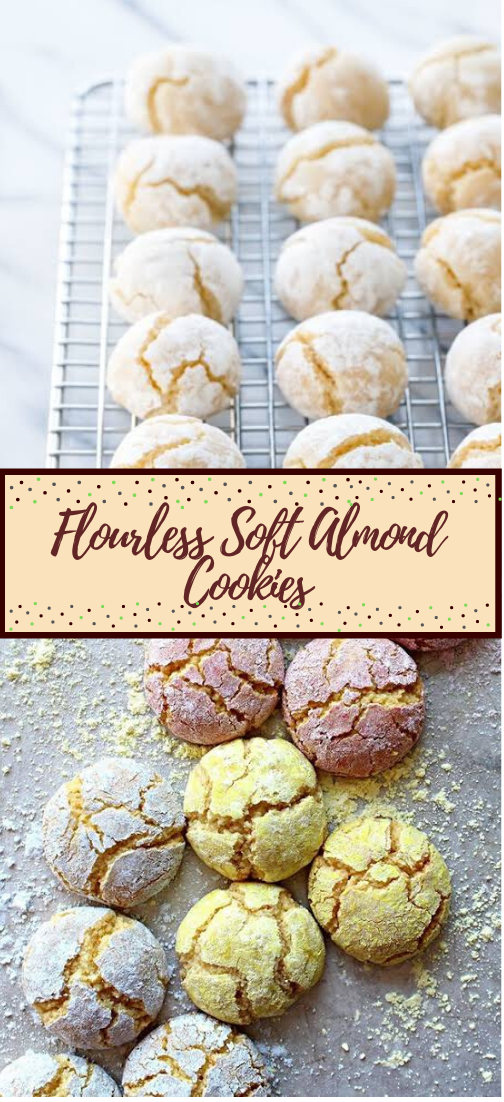 Flourless Soft Almond Cookies #desserts #cakerecipe #chocolate #fingerfood #easy
