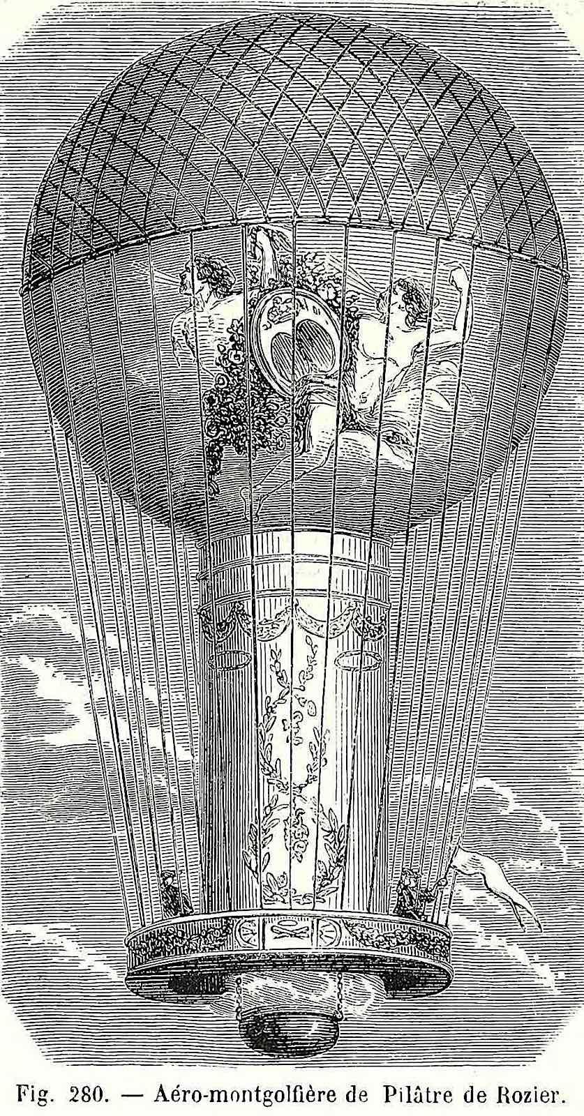 1780s balloonists illustration