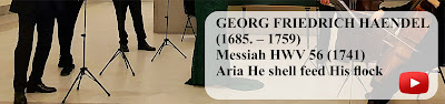 GEORG FRIEDRICH HAENDEL  (1685 – 1759)  Messiah HWV 56 (1741)   Aria Rejoice greadly, o daughter of Zion.