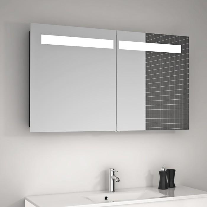 spiegelschrank mit beleuchtung hause dekoration ideen. Black Bedroom Furniture Sets. Home Design Ideas