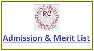 Raidighi College Merit List