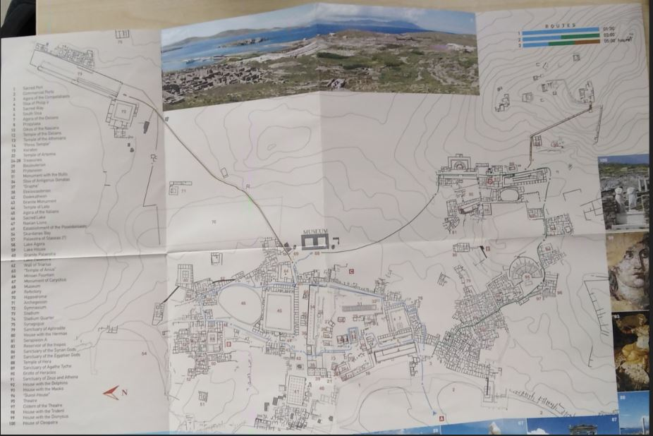 Delos Site Map