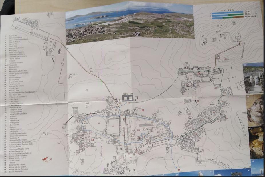 Delos Site Map