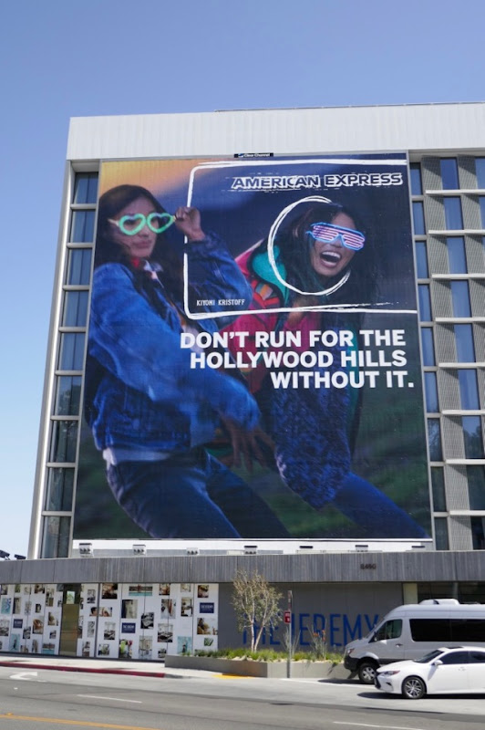 American Express Hollywood Hills billboard
