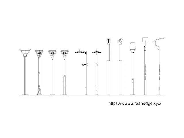 Street lighting cad blocks download, 10+ Street Lamp cad blocks