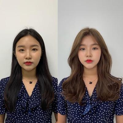 Hình ảnh trước và sau khi nhuộm tóc